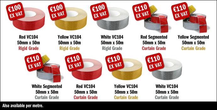 ECE 104 Reflective® Tape at Cargo Defenders, Reflective Tape Ireland, ECE Tape Ireland, Ireland